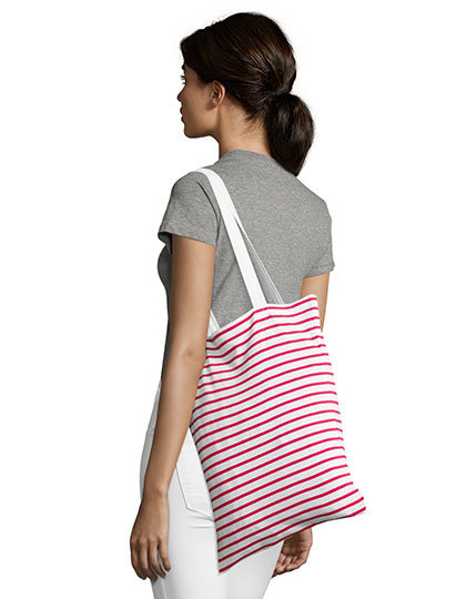 Striped Jersey Shopping Bag Luna
